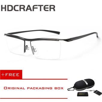 HDCRAFTER Miopia Ringan Antislip Pusat Buatan Setengah Lingkar Kacamata Bingkai
