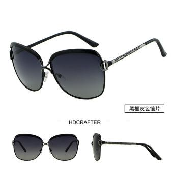 HDCRAFTER Wanita Kacamata Terpolarisasi Lensa Driver Sun Glasses Retro Fashion Polarized Sunglasses dengan UV Sunglasses E016