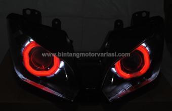Headlamp Projie HID Ninja 250FI (Red-White)
