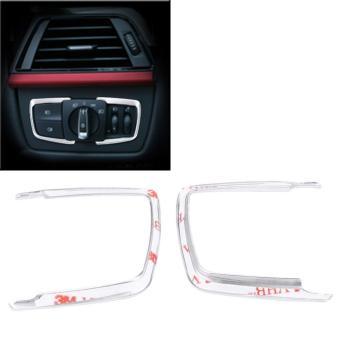Headlight Cover Trim Headlight Switch Frame Cover Trim Sticker for BMW 1 2 3 4 X5