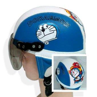 Helm Anak Unyu-unyu Model Retro Karakter Doraemon [1 - 5 Tahun] -