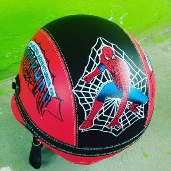Helm Anak unyu-unyu Model Retro Karakter Spidermen [1 - 5 tahun] +