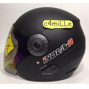 HELM BMC INOVA SOLID R BLACK DOFF HALF FACE
