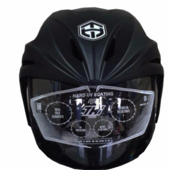 Helm half face THI Black doff