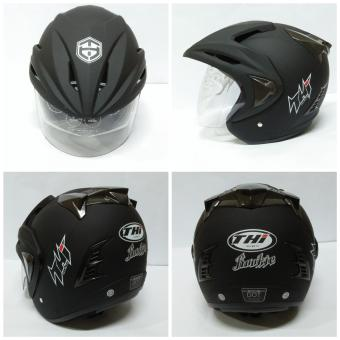 HELM HALF FACE THI SOLID BLACK DOFF