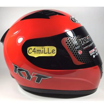HELM KYT R10 R 10 SOLID FIRE RED FULL FACE