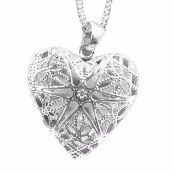 Hequ P167 Fashion Perhiasan Rantai Kalung Perak 925 Silver Pendant Bersih Menghabiskan Bingkai Foto Akla Jbsa