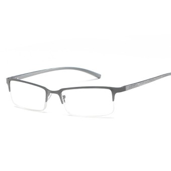 Hindfield 073 Baru Temperamen Kacamata Baca Lansia Khusus Berkualitas  Tinggi Square Kacamata Bingkai Logam Eyewear 2018 f4131a1b03