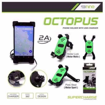 Holder Hp + Charger Casan USB Octopus 2in1 By Luminos 9Nine