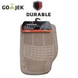 ... HONDA MOBILIO/BRV TH'16 DURABLE Karpet Karet PVC 3 Pcs Comfortable Universal Beigie