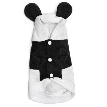 Kerudung pakaian anjing hewan peliharaan kucing anjing kostum pakaian jas jaket untuk musim dingin baru -