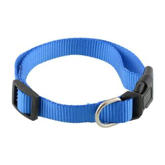 Harga Durable Adjustable Soft Nylon Pet Puppy Cat Dog Collar with Buckle Lead S/M/L - intl