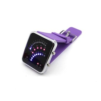 Harga Vanker Unique Anime Comic Quartz Fanshaped Binary System Wrist Watch LED Display Silica Purple
