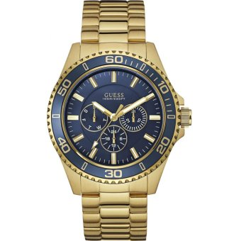 GUESS W0172G5 - Jam Tangan Pria - Stainless - Gold - Blue