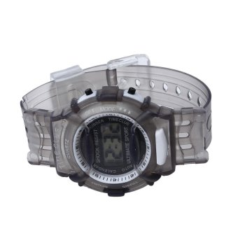 Harga Boys Girls Children Students Waterproof Digital Wrist Sport Watch Grey - intl