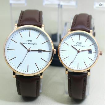 Harga D.WE - 1109 SKY - Jam tangan Couple - Design Casual - Leather strap