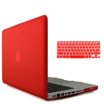"Harga Welink 3 in 1 Matte Apple MacBook Pro 15"" Case / Soft-Touch Plastic Hard Case Cover + Anti-dust Plug + Keyboard Cover for Macbook Pro 15 Inch [Models:A1286] (Red)"