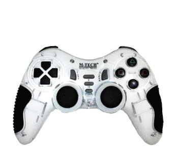 Harga M-TECH Game Pad 2.4G Wireless - Putih