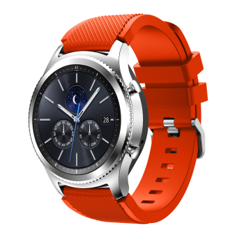 Harga Soft Silicone Sports Watch Band for Samsung Gear S3 Frontier / S3 Classic - Orange - intl