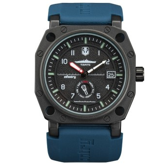 Harga INFANTRY WOT Mens Quartz Wrist Watch Date Day Illuminate Sport Army Navy Rubber