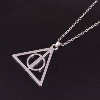 Harga Okdeals Film Movie Happy potter Deathly Hallows Metal Necklace Pendant Silver