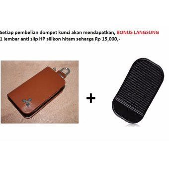 Harga Dompet kunci kulit COKLAT Mitsubishi Cocok Untuk Semua Varian : Pajero, Dakar, Eceed, GLS, Delica, Outlander, Mirage, Strada Trinitron, Colt L300, Colt T120, Colt Diesel Bensin CBU CKD All new Luxury Sport Grand touring Limited edition, Manual, Matic