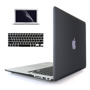 "Harga Welink 3 in 1 Apple MacBook Air 11"" Case / Soft-Touch Plastic Hard Case Cover + Keyboard Cover + Screen Protector for Macbook Air 11'' (Black)"