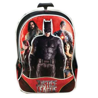 Harga BGC Tas Troley Sekolah Anak TK Justice League Batman The Flash Wonder Women Cyborg 3D  Timbul - Black Red