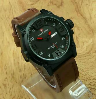 Sa 8820b Merah Cek Harga Source Swiss Army Jam Tangan Pria Leather Strap .