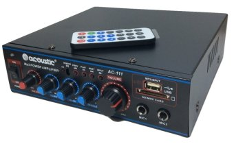 Harga ACOUSTIC Amplifier AC-111 ,USB,MP3 Karauke AC/DC-Hitam