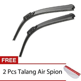 Harga Wiper Mobil Frameless 1 Set - Mitsubishi Pajero Sport - Free 2 Pcs Talang Air Spion Clear