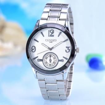 Harga Cenozo - Jam Tangan Wanita- Body Silver - Black Dial - Silver Stainless Steel Band - CNZ-RT-9165-L-SW-STAINLESS STEEL BAND