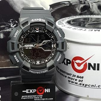 Exponi - EXP-0144 Dual Time - Jam Tangan Sport Pria - Rubber - Waterresist