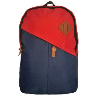 Harga Bag & Stuff Mozaic Simple Tas Ransel Laptop Kasual - Biru Merah
