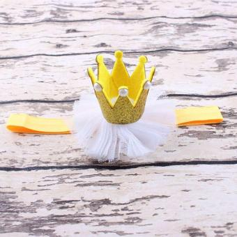 Harga Baby Girls Toddler Hairband Crown Rhinestone Headband - intl