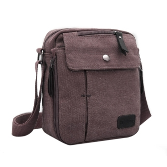 Harga ETOP Men's Vintage Canvas Multifunction Travel Satchel / Messenger Shoulder Bag
