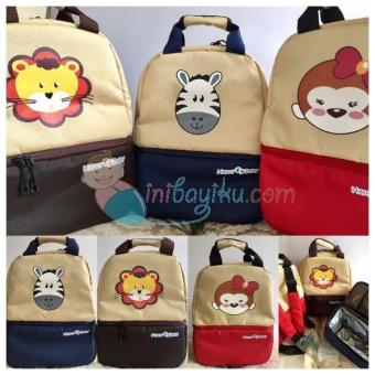 Harga SKU : KONSIHBB01 Happy Baby Cooler Bag Backpack Zebra Size 30 cm x 15 cm x 33 cm Color Navy Brown