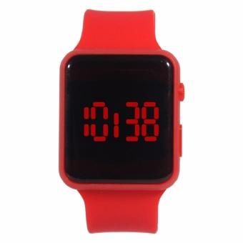 Harga Generic - Jam tangan LED persegi digital - red