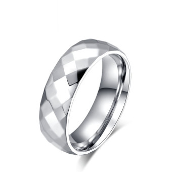 Titanium Steel Rhombus Polishing Ring for Men Great for Gifts