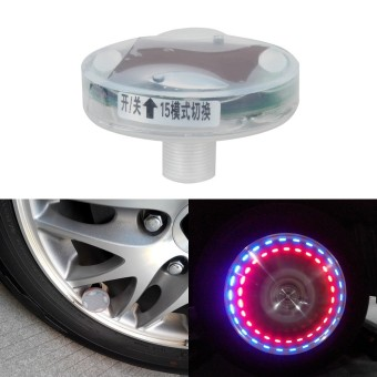 Harga LED Car Auto Solar Energy Flash Wheel Tire Valve Caps Neon Light Lamp Decoration Car Wheel Tire Air Valve Cap Solar Light - Intl