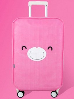 Harga Best Luggage Cover Pink Bear Penutup, Sarung Pelindung Koper Travel 26 Inchi