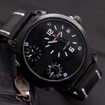 Swiss Army Jam Tangan Pria Triple time – Leather Strap – SA .