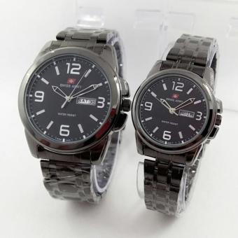 Swiss Army Couple - Jam Tangan Couple - Silver Stainless - SA 5221
