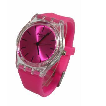 Jam Tangan Wanita Analog Rubber Strap - Pink