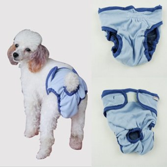 Harga Fang Fang Premium Dog Diapers Female Durable Reusable Dog Diapers for Pets (Blue)-Int:M - intl