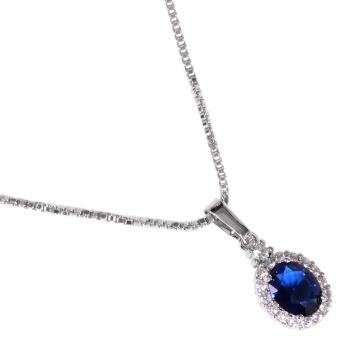 Timmy Blue Shappire Necklace N1120i - Kalung Wanita