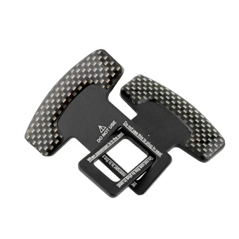 Harga 2pcs Truck Atv Carbon Fiber Safty Seat Belt Buckle Stopper Alarm Canceler Black