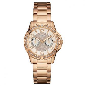 Harga Guess W0705L3 SASSY - Jam Tangan Wanita - Rose Gold - Stainless Steel - Guess Watch