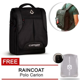 Harga PoLo Carion Trifungsi Tas Ransel / Laptop Backpack 330006 - BLACK