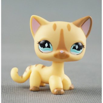 2/'/' Brown Cat Blue Eyes Animals Littlest Pet Shop LPS#1170  Girl toys